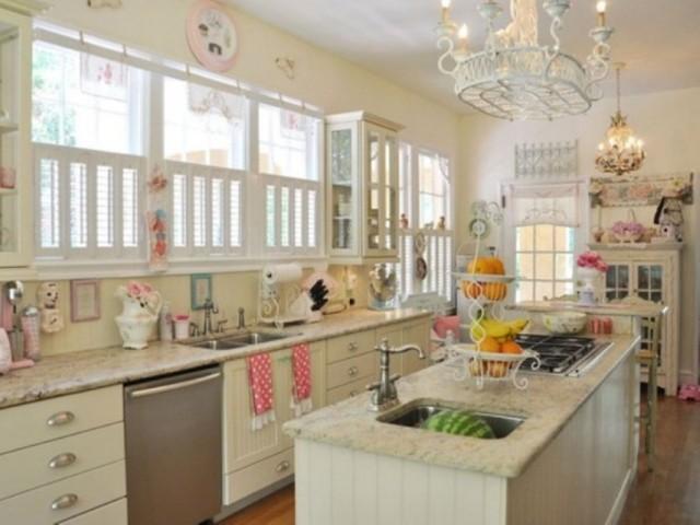 kitchen-fascinating-white-vintage-kitchen-counter-and-sink-with-wonderful-chandelier-also-retro-wood-drawer-sophisticated-vintage-kitchen-design-ideas